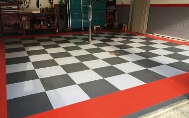 Garagenboden mit bel ftung und drainage - Kunststoff fliesen garage ...